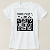 You Can't Scare Me I am An Early Childhood Educator ECE, Unisex Adult White Tshirt - RazKen Gifts Shop