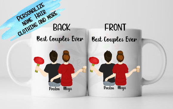 Personalized Gift for Couples, Friends, Family, Best Birthday Gift, Besties, Design Your own Mug - RazKen Gifts Shop - 1 Day Processing time - Fast Shipping