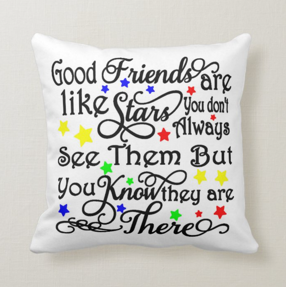 Best Friends Are Like Stars You Don't See Them, Besties, Best Friend Gift Cushion Pillow - RazKen Gifts Shop
