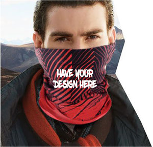 Personalized Own Design High Quality Face Scarf, Face Covering, Neck Gaiter - RazKen Gifts Shop - 1 Day Processing time - Fast Shipping