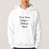 Personalize Your Own Permanently Printing Unisex White Basic Hooded Sweatshirt Hoodie - RazKen Gifts Shop - 1 Day Processing time - Fast Shipping