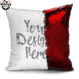 Personalized Photo Sequin Pillow Cushion Cover Case - RazKen Gifts Shop - 1 Day Processing time - Fast Shipping