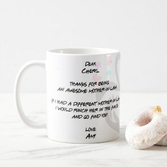 You For Being, Punch In The Face, Mom's Birthday Gift for Mother-in-law Mug - RazKen Gifts Shop - 1 Day Processing time - Fast Shipping