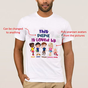 Personalized Character Adult Unisex White Tshirt, This person is loved by avatar