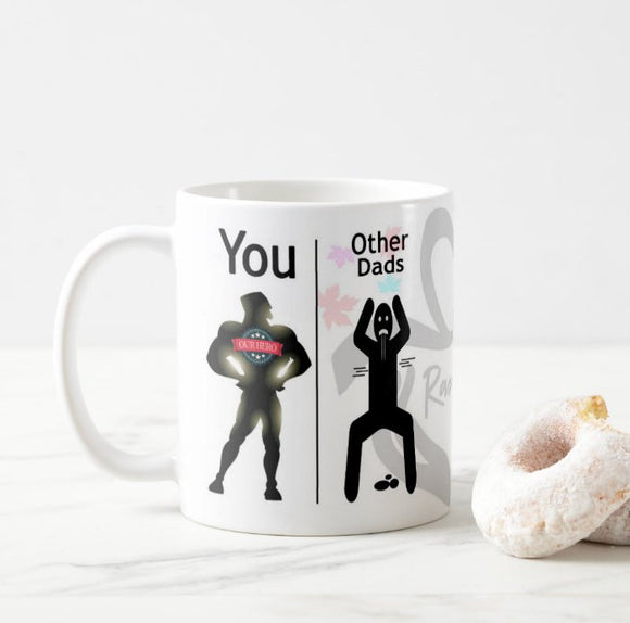 Personalized Your Text Our Hero Dad Other Dads Coffee mug - RazKen Gifts Shop - 1 Day Processing time - Fast Shipping