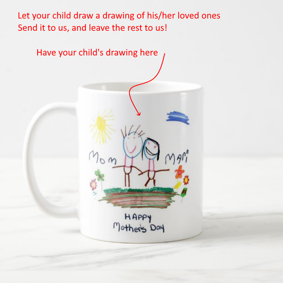 Your Child Drawing of Loved Ones Coffee Mug