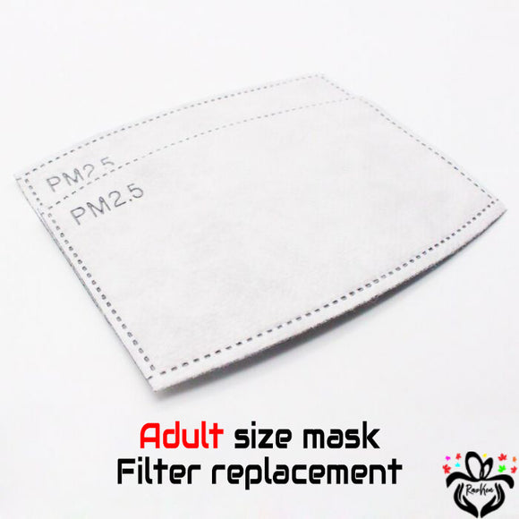 Face Mask Filter Replacement Adult Size - RazKen Gifts Shop - 1 Day Processing time - Fast Shipping