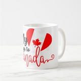 My heart belongs to Canada gift Canada Day July 1st Coffee Mug - RazKen Gifts Shop - 1 Day Processing time - Fast Shipping