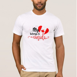 My heart belongs to Canada gift Canada Day July 1st White Adult Unisex tshirt - RazKen Gifts Shop - 1 Day Processing time - Fast Shipping