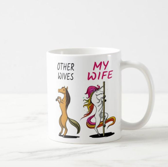 Wife gifts, funny wife gift, wife gift idea, wife birthday gift, unicorn wife, other wives coffee mug - RazKen Gifts Shop