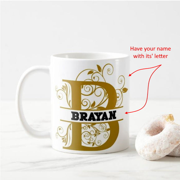 Name Split Alphabet Letters Personalized Have Your Own Name, Birthday Gift Mug - RazKen Gifts Shop - 1 Day Processing time - Fast Shipping