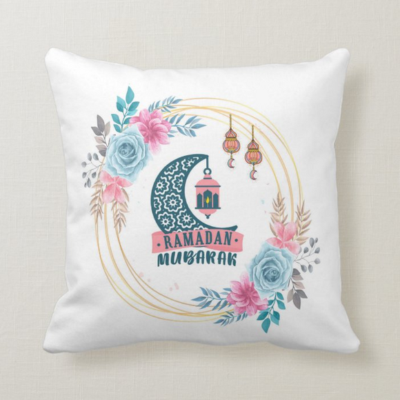 Ramadan Mubarak Decorative Cushion Cover
