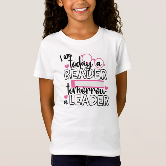 I am Today A Reader Tomorrow A Leader, High Performance Fabric Child Unisex White Tshirt - RazKen - RazKen Gifts Shop