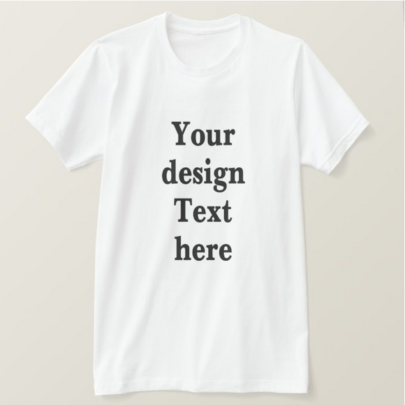 Your Design Text Personalized Photo, High Performance, White Adult Unisex Tshirt - RazKen Gifts Shop