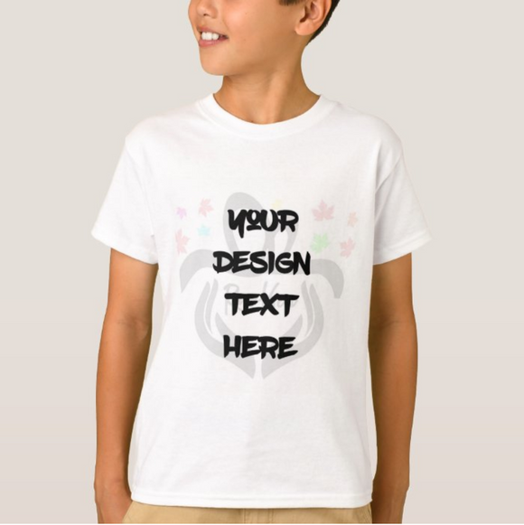 Personalized Photo, Text, High Performance Fabric Youth Kid Child White Tshirt