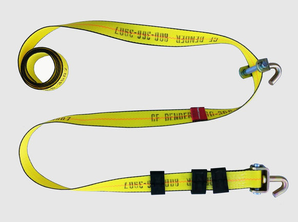 Heavy Duty Swivel-J Hook Wheel Strap - 144