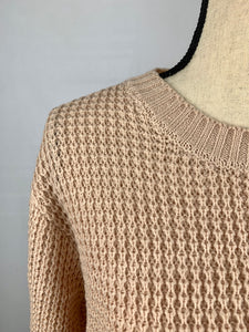 NEW! Hi Low Waffle Sweater