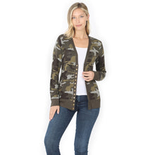 Load image into Gallery viewer, NEW! Camo Be Lightweight Cardi