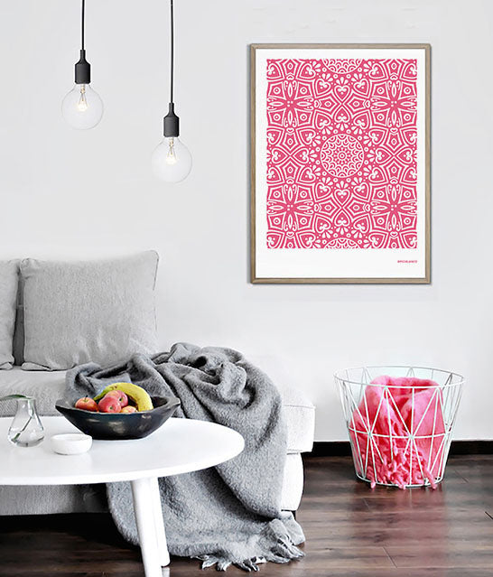 Andalusian Tile Prints | Carnation Pink