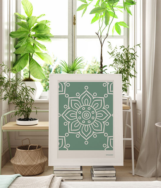 Andalusian Tile Prints | Olive Green