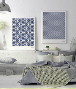 Andalusian Tile Prints | Night Blue