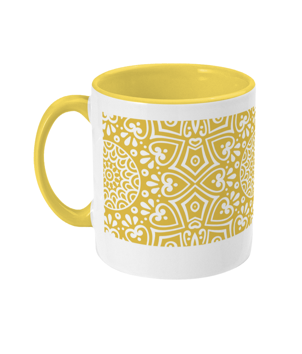Sunset Yellow Coffee Cup 004