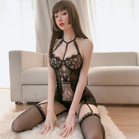 Erotic Lingerie-Secretary Seduction Mesh Lace Sexy Dress