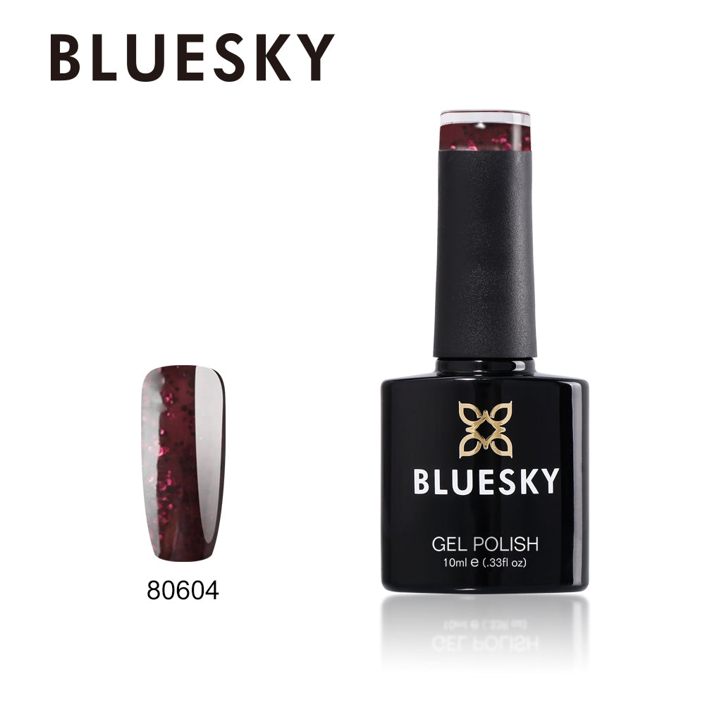 80604 Poison Plum UV LED Gel Soak Off Nail Polish, 10ml