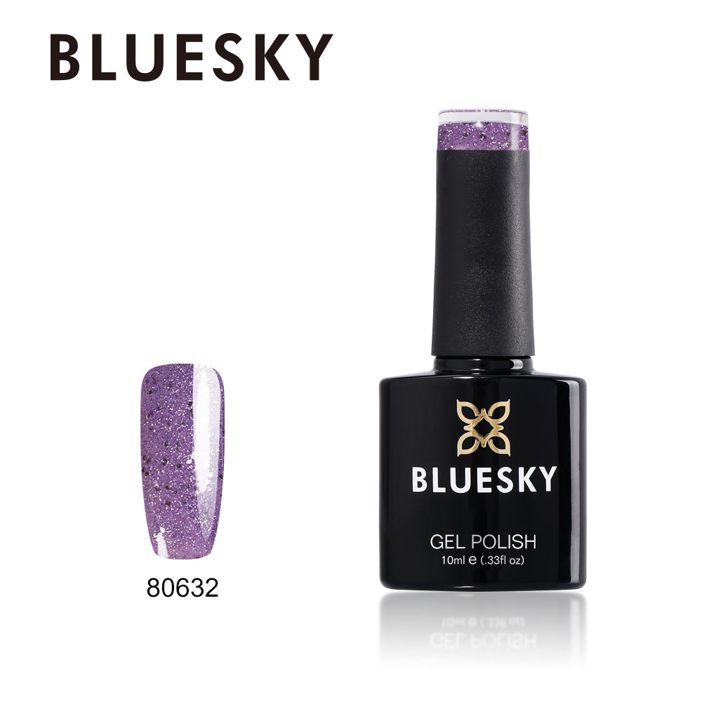 Bluesky UV LED Gel Soak Off Nail Polish, 632 Alluring Amethyst 10ml