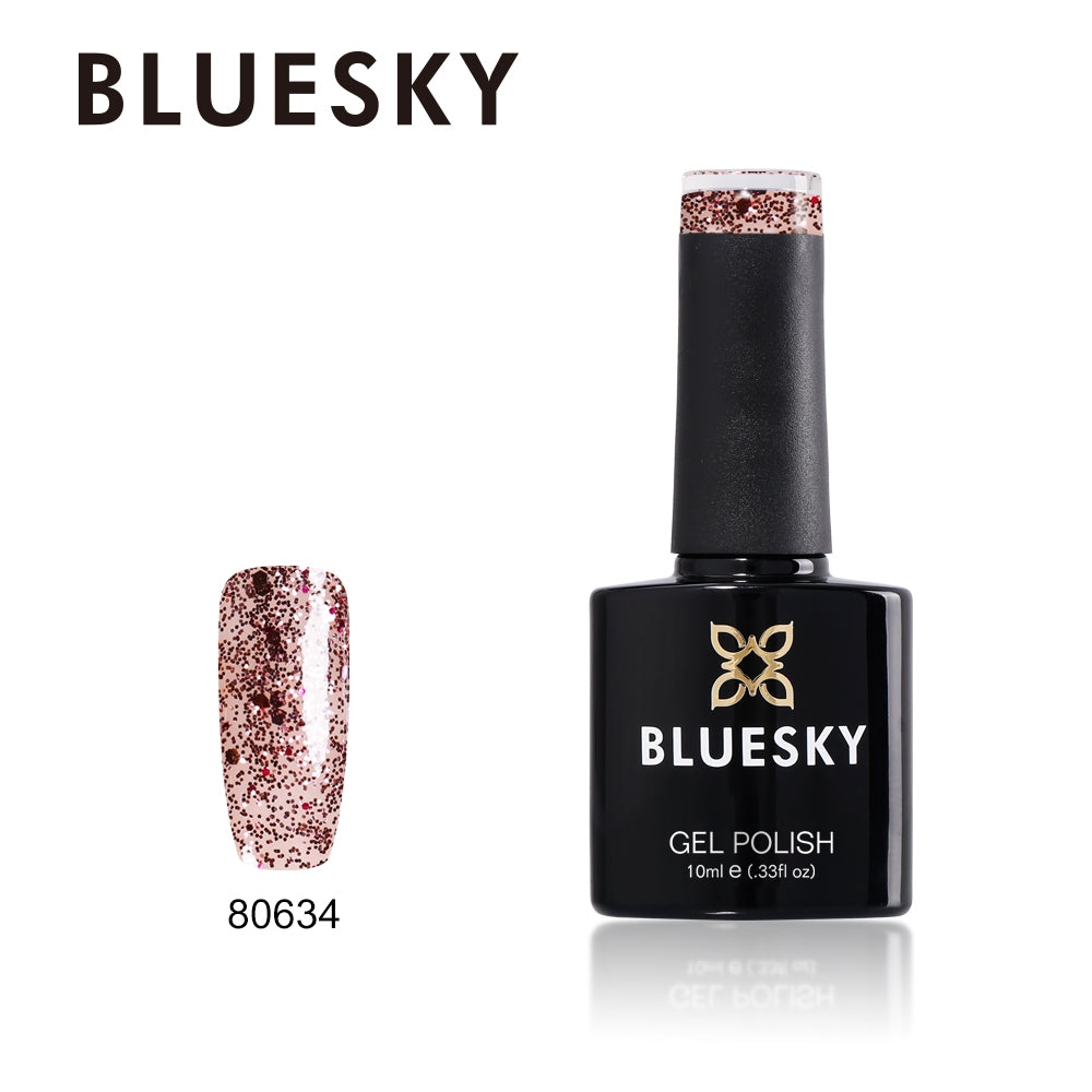 Bluesky UV LED Gel Soak Off Nail Polish, 634 Blushing Topaz 10ml