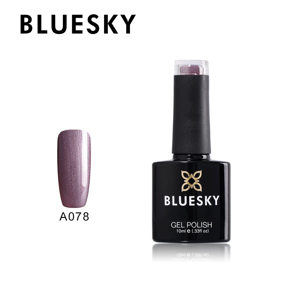 078 A Purple Shimmer Bluesky UV LED Gel Soak Off Nail Polish, A078 10ml