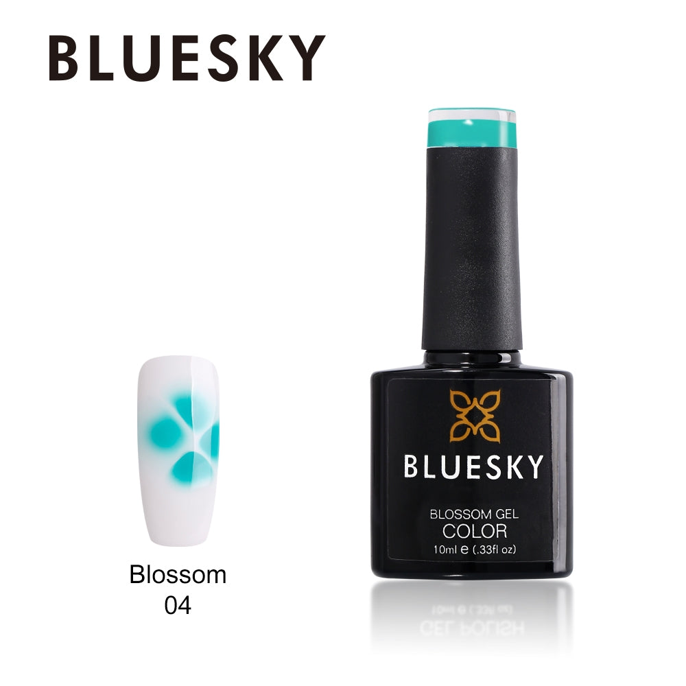 Bluesky UV LED Gel Soak Off Nail Polish, BM04 Teal Blossom gel 10ml