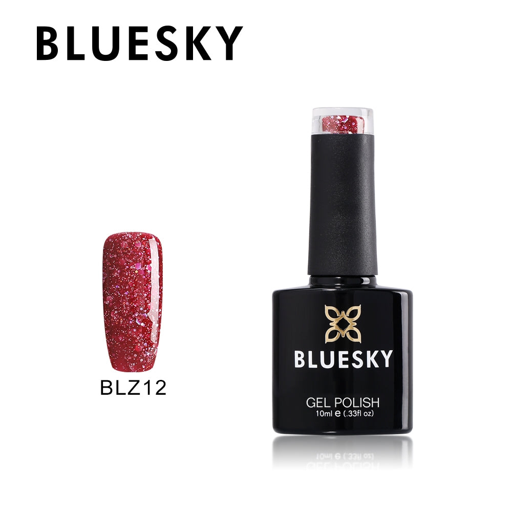 12 BLZ MERLOT RED  - UV LED Gel Soak off Nail Polish 10ml