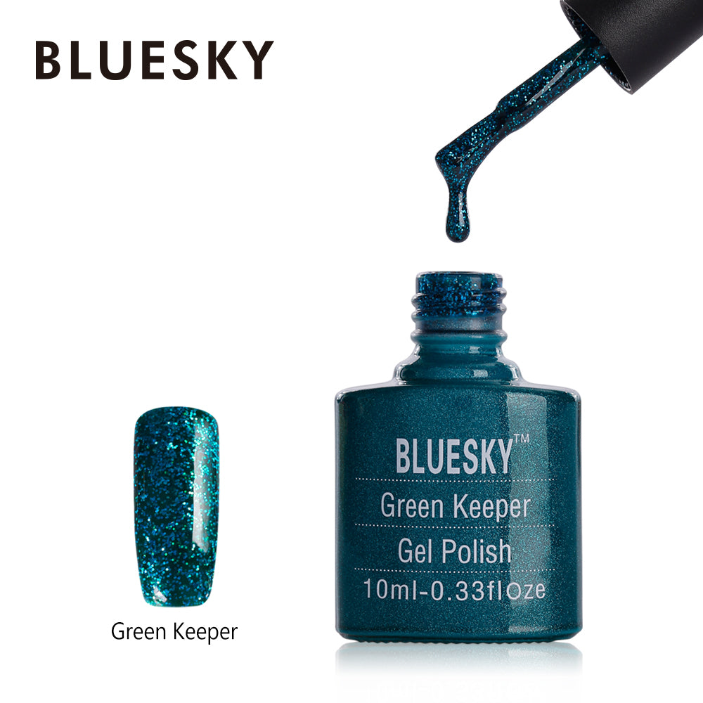 Bluesky UV LED Gel Soak Off Nail Polish, Green Keeper 10ml