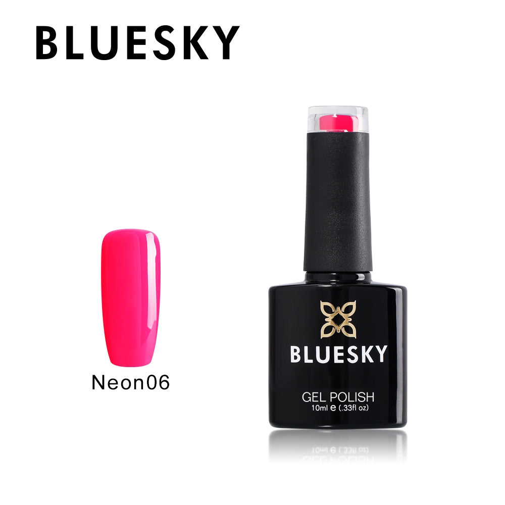 06 NEON UV LED GEL Summer Neon 6 - Cherise - Nail Polish by Bluesky 10ml