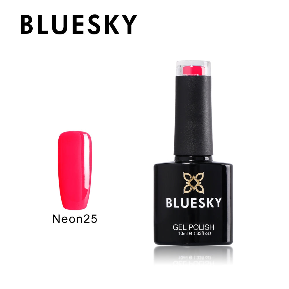 25 Neon UV LED Gel Soak Off Nail Polish, Neon 25  Fruit Twist 10ml