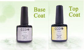 CCO UV LED GEL Top & Base Coats - Twin Pack - UV Gel Soak off Nail Polish