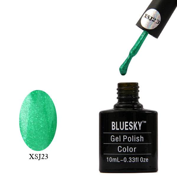XSJ23 Green Glitter - UV LED Gel Soak off Nail Polish 10ml