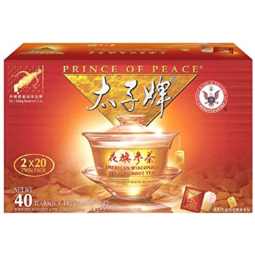 Prince of Peace American Wisconsin Ginseng Root Tea (Twin Pack)