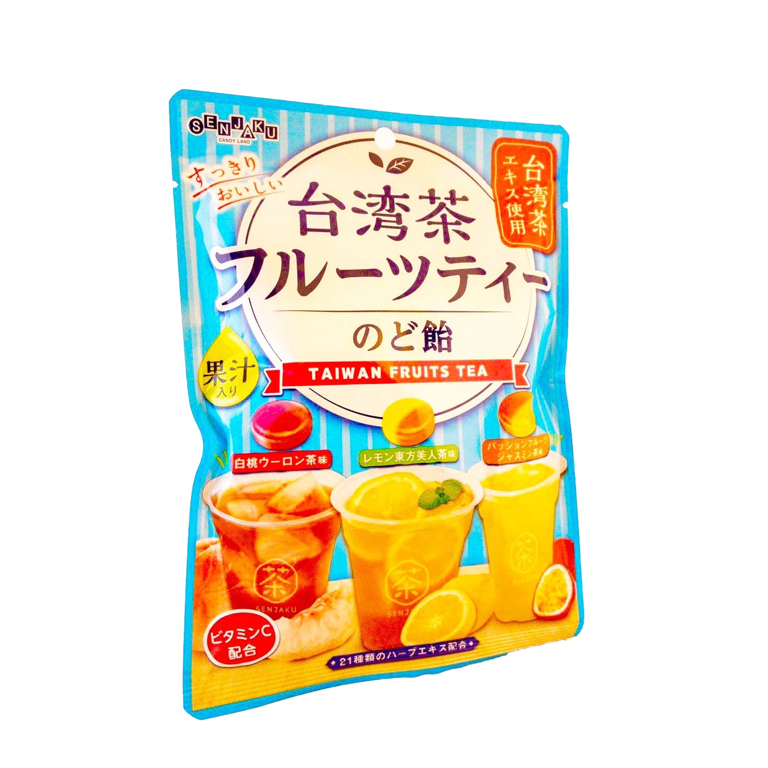 Taiwancha Fruit Tea Nodoame Candy 2.68oz
