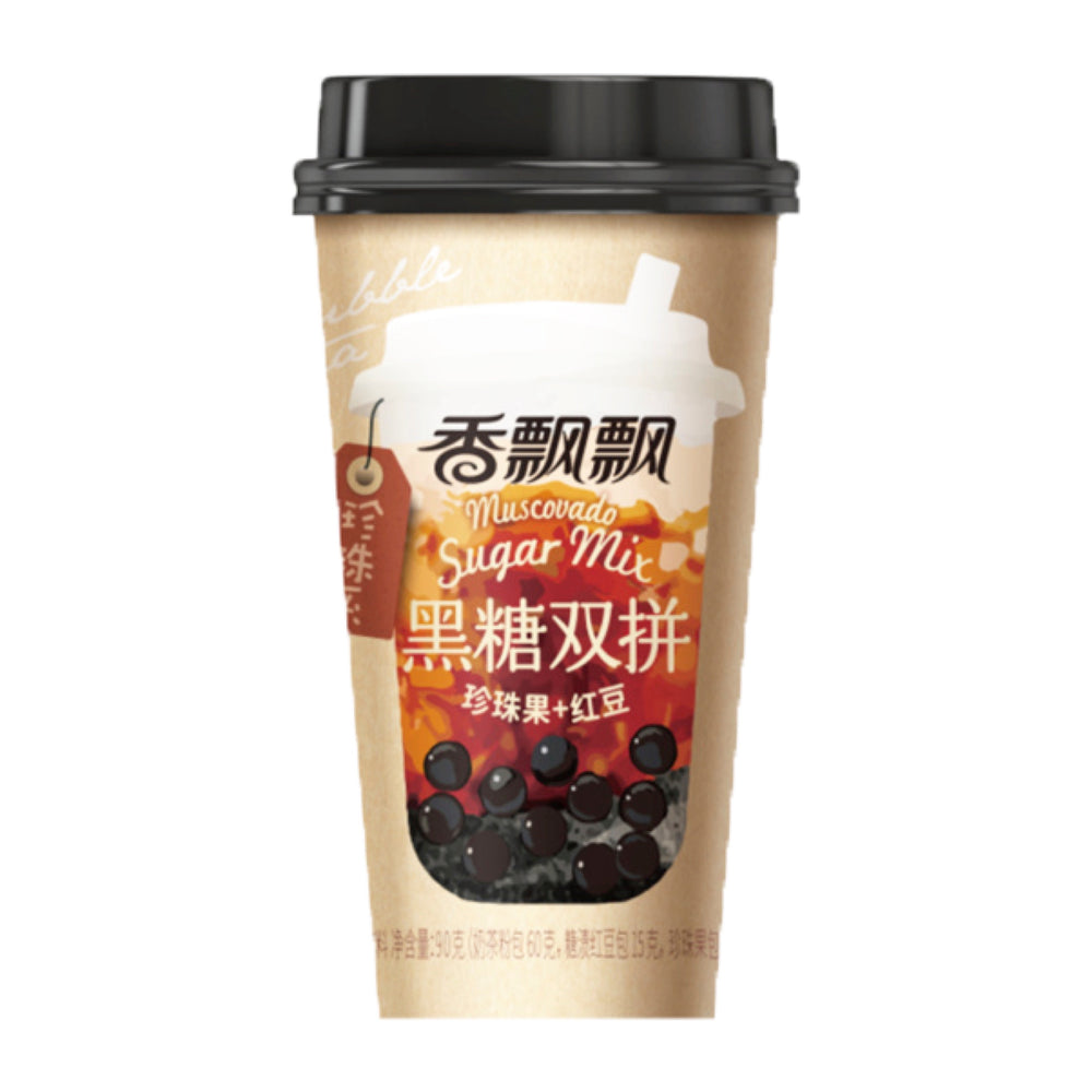 XiangPiaoPiao Brown Sugar Milk Tea with Boba and Red Bean