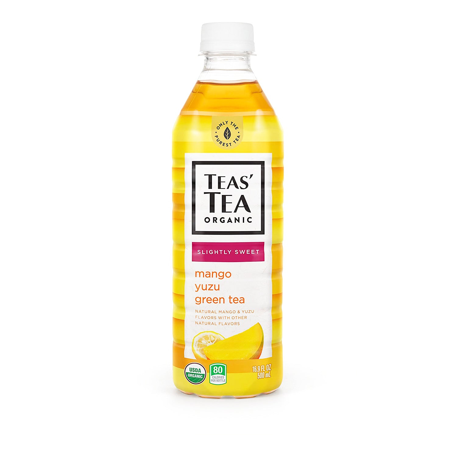 Teas' Tea Organic Iced Tea Mango Yuzu Green Tea 16.9oz