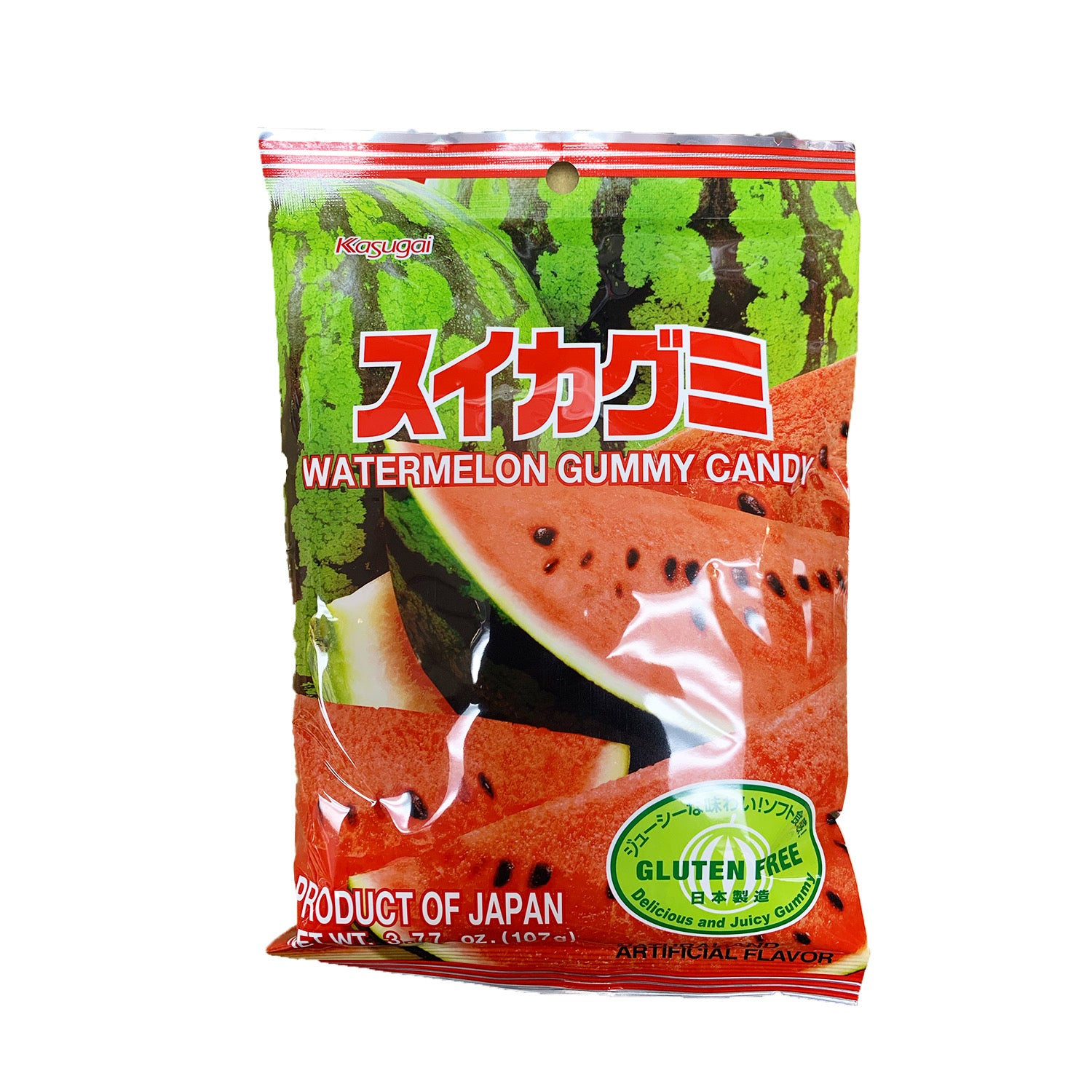 Kasugai Watermelon Gummy Candy 3.77oz