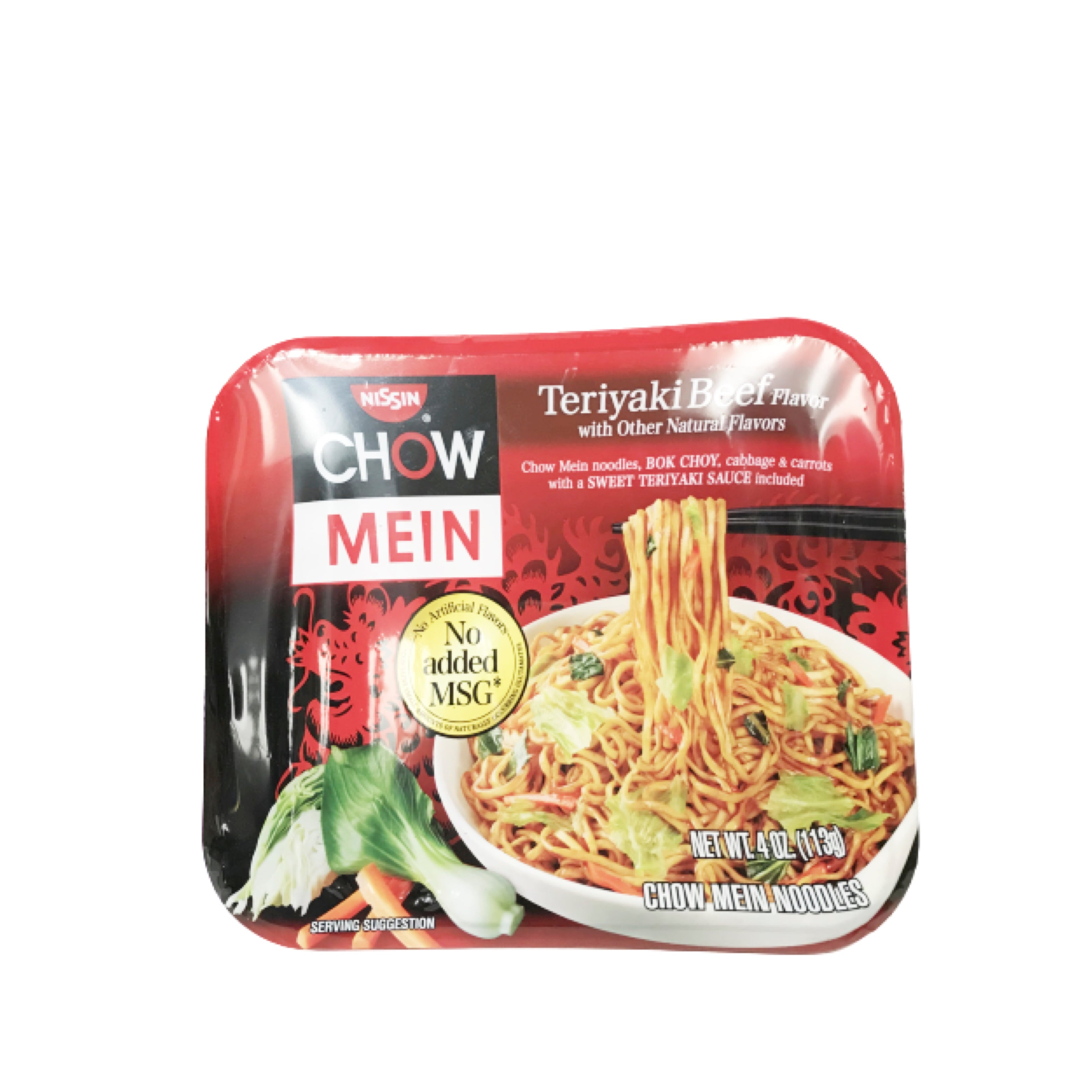 Nissin Chow Mein Bowl Noodle Teriyaki Beef Flavor