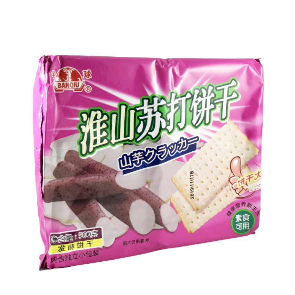BanQiu Soda Cracker Yam Flavor  半球淮山蘇打餅乾