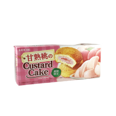 Lotte Peach Custard Cake