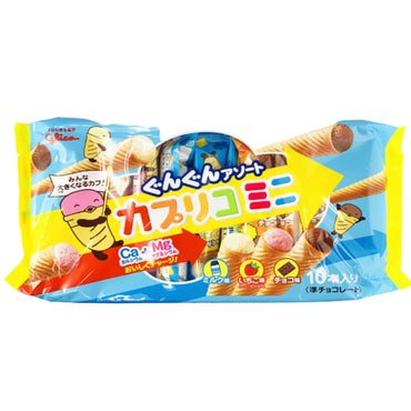 Glico Caplico 10 Sticks w/ Chocolate, Strawberry & Vanilla