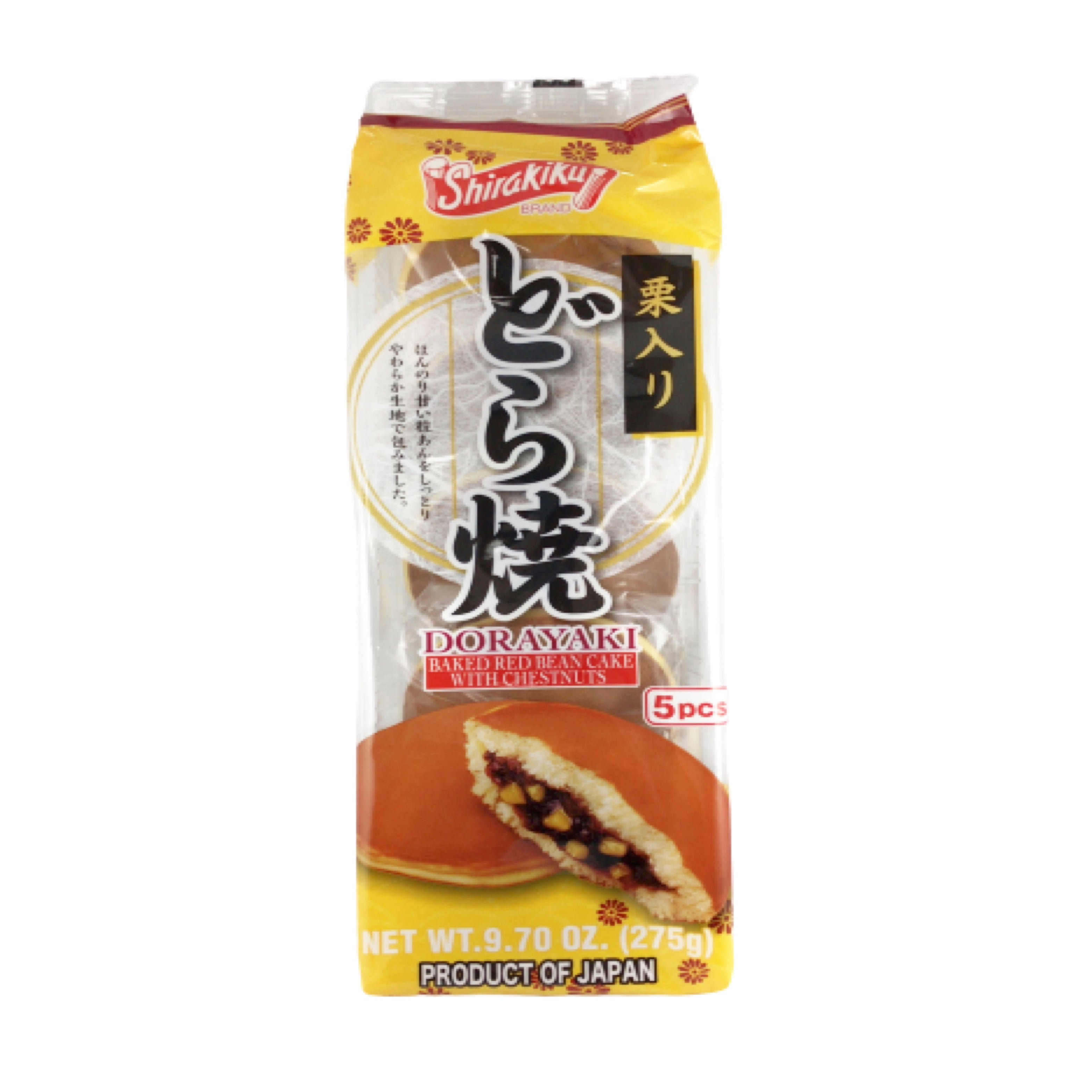 Shirakiku Dorayaki Baked Red Bean Cake with Chestnuts 紅豆栗子銅鑼燒