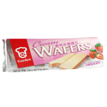 Garden Strawberry Cream Flavor Wafers 嘉頓忌廉威化 草莓味