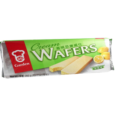 Garden Lemon Cream Flavor Wafers 嘉頓忌廉威化 檸檬味
